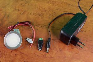 Anschluss einer LED Einbauleuchte an ein Steckernetzteil