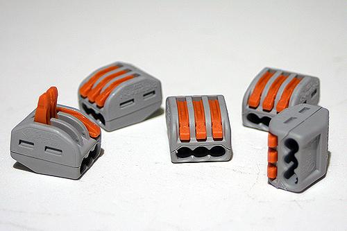 WAGO Steckklemme 3×2,5 mm², lösbar