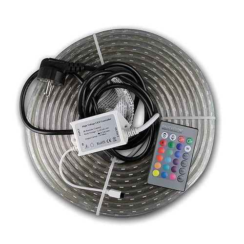 RGB-LED-Stripe, 230V, 10 Meter, IP44