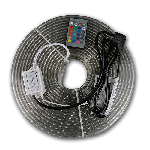 RGB-LED-Stripe, 230V, 20 Meter, IP44