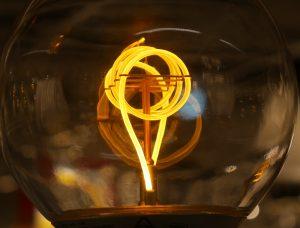 Vintage-Birne mit spiralförmiger Filament-LED
