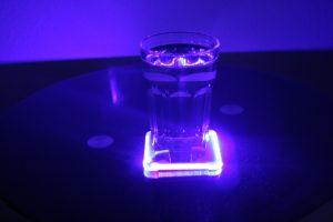 LED Glasuntersetzer mit RGB-Farbwechsel