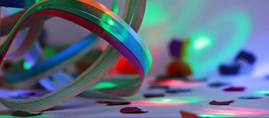 Partybeleuchtung für die Karnevalsfeier